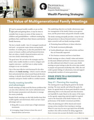 The Value of Multigenerational Family Meetings - cover image