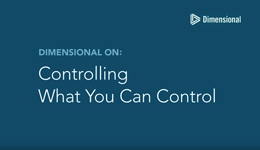 Controlling What You Can Control screen