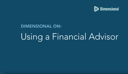Using A Financial Advisor screen