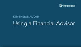 Using A Financial Advisor screen