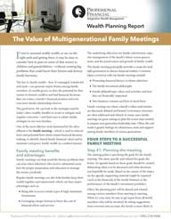 Value of Intergenerational Family Meetings cover image