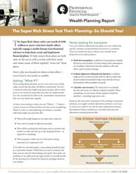 Report cover, Super-Rich Stress Test Planning