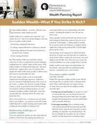 cover of Wealth Planning Report: Sudden Wealth