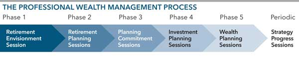Retirement Stress Testing: Professional Wealth Management Process chart