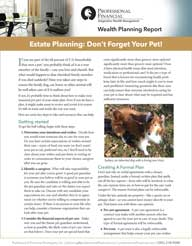 Estate Planning: Don't Forget Your Pet! - cover image