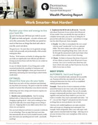 Cover of report, Work Smarter - Not Harder!