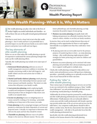 Elite Wealth Planning—What it is, Why it Matters - cover image
