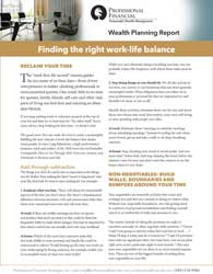 cover image of Wealth Planning Report: Finding the right work-life balance