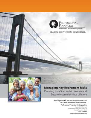Cover image, Managing Key Retirement Risks brochure