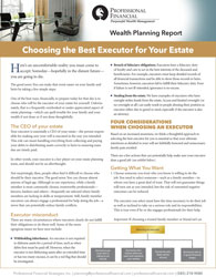 "cover image of Wealth Planning report, ""Choosing the Best Executor for Your Estate"""
