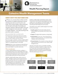 cover image of Wealth Planning Report: Cohesive Wealth Management Teams
