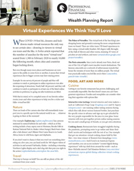 cover image of Wealth Planning Report: Virtual Experiences We Think You'll Love