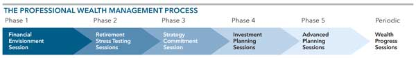 graphic: Professional Wealth Management Process chart of steps